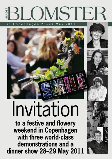 to a festive and flowery weekend in Copenhagen with three world ...