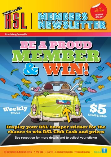 June 2012 Member Newsletter - Townsville RSL