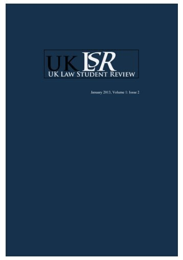 Open UKLSR Volume 1(2) - Uklsa