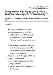 Rede beim Fränkischen Zahnärztetag - Bayerisches ...