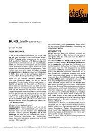 RUND_brief sommer2001 - Stoffwechsel e.V.