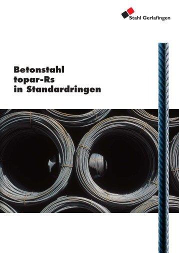 Betonstahl topar-Rs in Standardringen - Stahl Gerlafingen