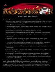 10 motive pentru care sa bem cafea - Caffe Carraro