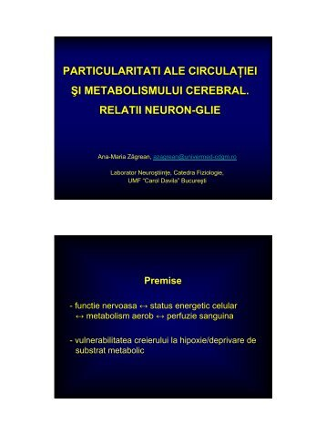 Cerebral blood flow & metabolism