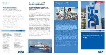 Flyer: Perfil (em português) (pdf | 278 KB ) - DFG