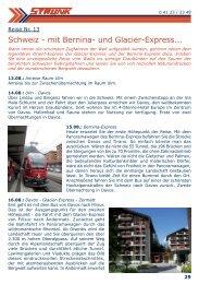 Schweiz - mit Bernina- und Glacier-Express... - Strunk-reisen.de