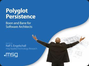 Engelschall-NoSQL-Matters-Polyglot-Persistence