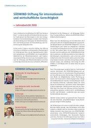 SÜDWIND-Stiftung für internationale und ... - SÜDWIND-Institut