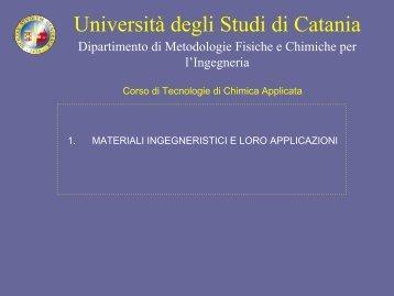 TECNOLOGIE DI CHIMICA APPLICATA - Dmfci - Università degli ...