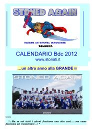 CALENDARIO Bdc 2012 - stonati