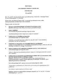 Protokoll for generalforsamling STATOIL ASA