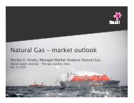 Natural Gas – market outlook - Statoil