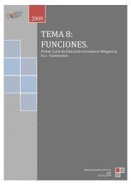 TEMA 8: FUNCIONES.