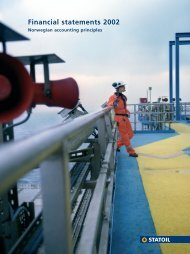 Financial statements 2002 - Statoil