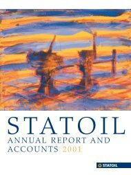 ANNUAL REPORT AND ACCOUNTS 2001 - Statoil
