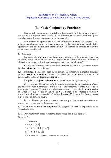 Teoria de Conjunto y Funciones - Monografias.com