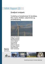 Snefjord vindpark - NINA