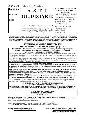 Boll.N26 dal 4 al 9 Luglio 2011 - Comune di Novara