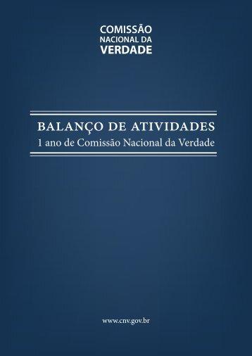 BALANÇO DE ATIVIDADES