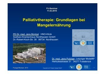 Palliativtherapie - Grundlagen Mangelernährung