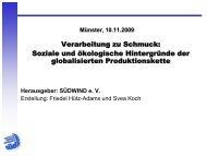 Verarbeitung zu Schmuck: Soziale und ... - Franz-Hitze-Haus