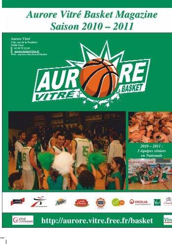 Aurore Vitré Basket Magazine Saison 2010 – 2011 - Comité d'Ille et ...