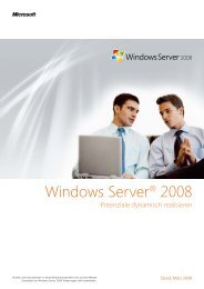 Windows Server® 2008 - Stuer Software & Consulting GmbH
