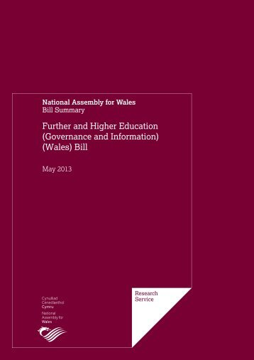 Further and Higher Education (Governance and Information) (Wales) Bill