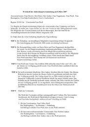 Protokoll der Jahreshauptversammlung am 8.März 2007 Anwesend ...