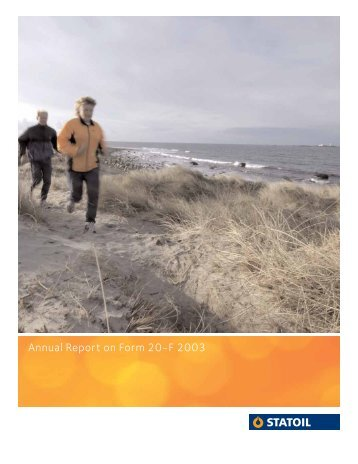 Annual Report on Form 20-F 2003 - Statoil