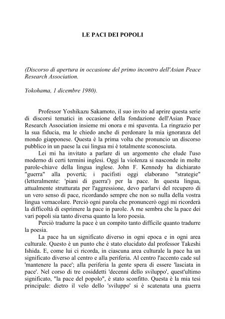 NELLO SPECCHIO DEL PASSATO - biblioteca galilei trieste