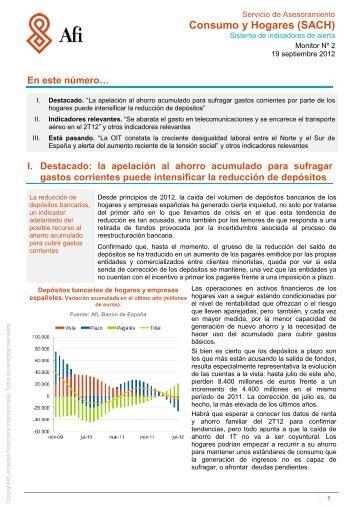 La apelación al ahorro acumulado para sufragar gastos - SACH ...