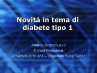 Novità in tema di diabete tipo 1 - Ospedale Luigi Sacco