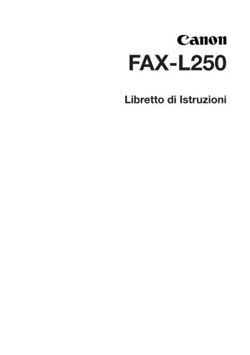 FAX-L250 - Canon Download Centre