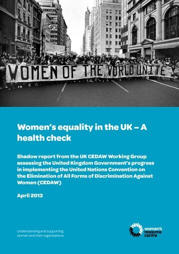 Women's equality in the UK – A health check