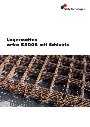 Lagermatten artec B500B mit Schlaufe - Stahl Gerlafingen