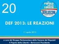 leggi il dossier - Gruppo PDL – Berlusconi Presidente