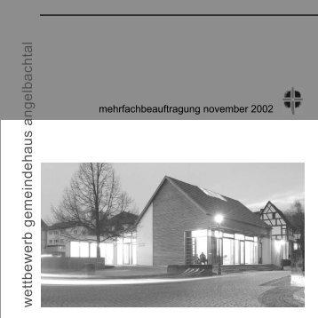 Mehrfachbeauftragung in Angelbachtal - Evangelische ...