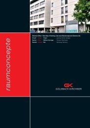 Siemens Office - Goldbach Kirchner raumconcepte GmbH