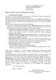 Illustrissimo Sig. Prefetto di Palermo Dott. Giancarlo ... - Sna