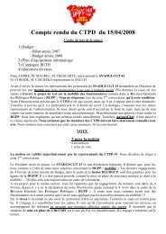 CR du CTPD du 15-04-2008 - Syndicat CGT des Finances Publiques