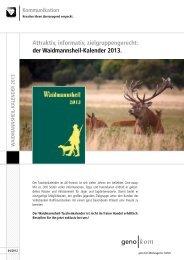 der Waidmannsheil-Kalender 2013. - geno kom Werbeagentur GmbH