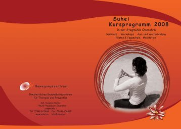 Kursprogramm 2008 - Suhei Bewegungskonzepte