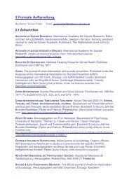 2 Formale Aufbereitung - Deutsche Gesellschaft für Suizidprävention