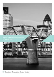 Sumitomo Corporation Europe Ltd Annual Report 2012 (PDF 3.4 MB)