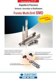 afficher la documentation technique - sumitomo electric hardmetal