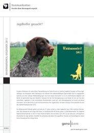 Jagdhelfer gesucht? - geno kom Werbeagentur GmbH
