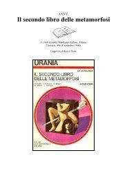 AA.VV. - Il secondo libro delle metamorfosi - ctsbasilicata