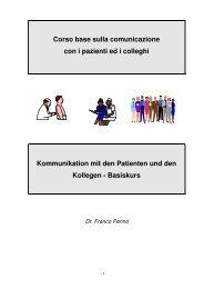 Corso base sulla comunicazione con i pazienti ed i colleghi ...