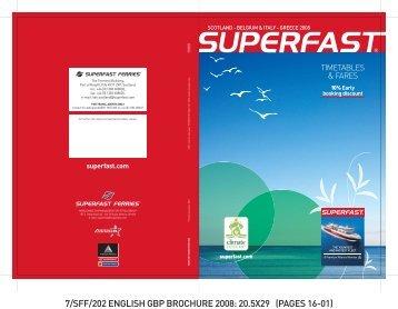 scotland - belgium & italy - greece 2008 - Superfast Ferries